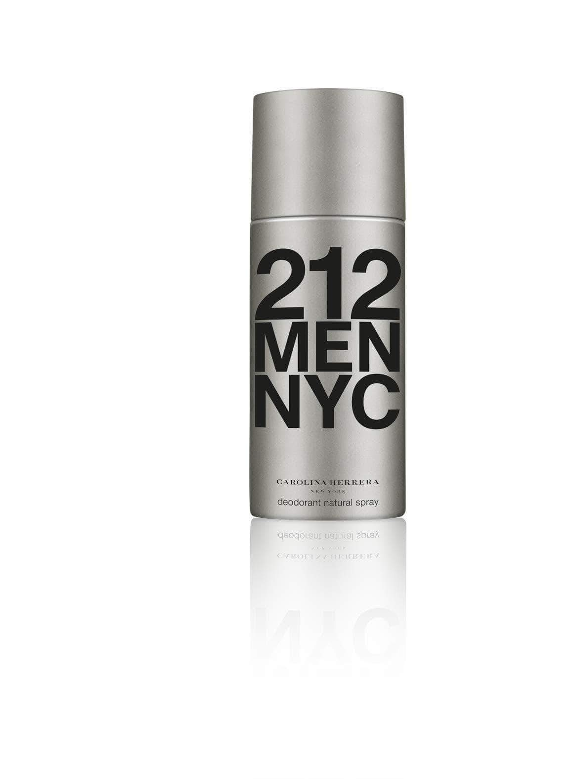 Amazon Carolina Herrera Homme, 212 Men NYC Deodorant Natural Spray, 150 g