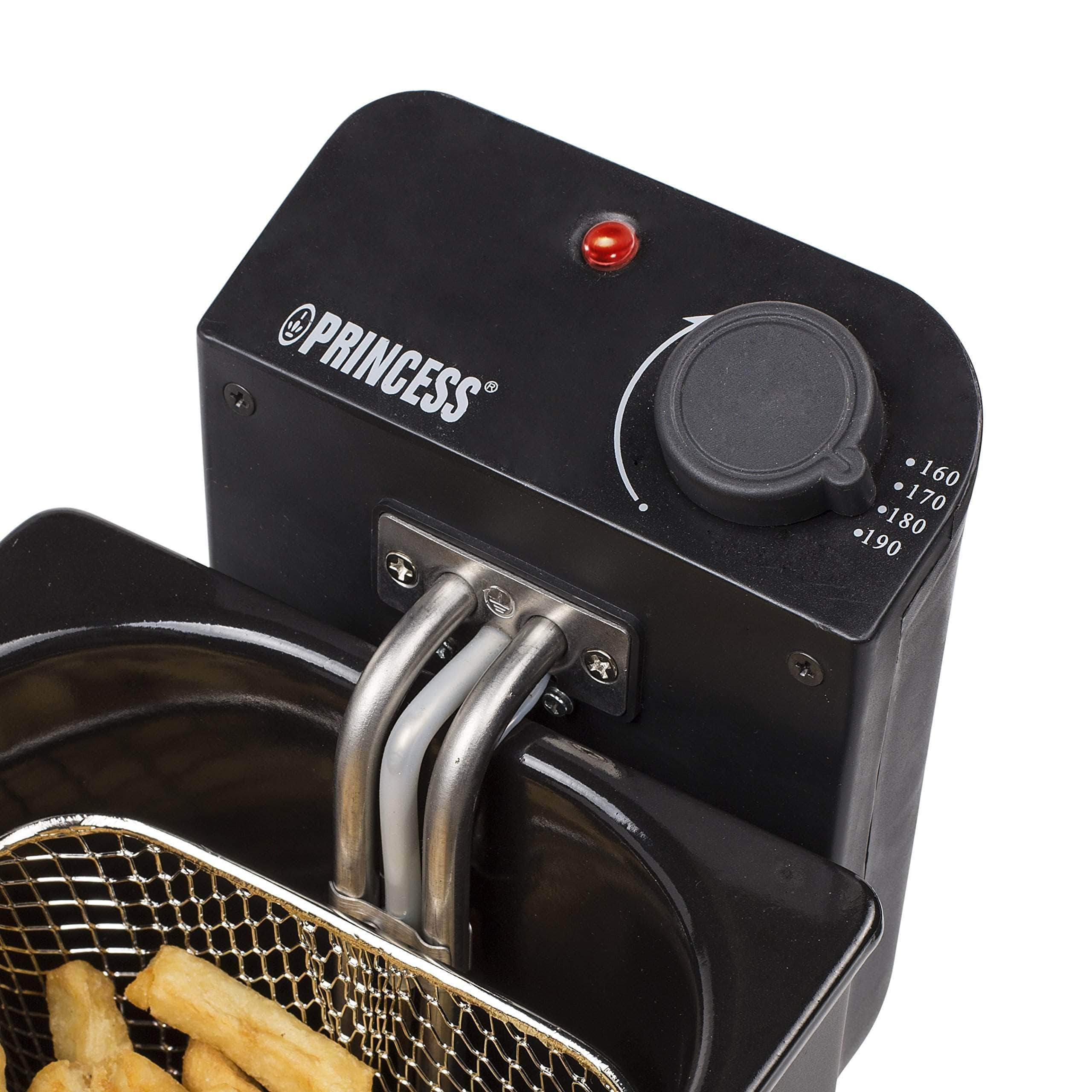 Amazon Freidora Princess 182727 Deep Fat Fryer negra - Zona fría - Filtro de seguridad - Volumen de 3 litros