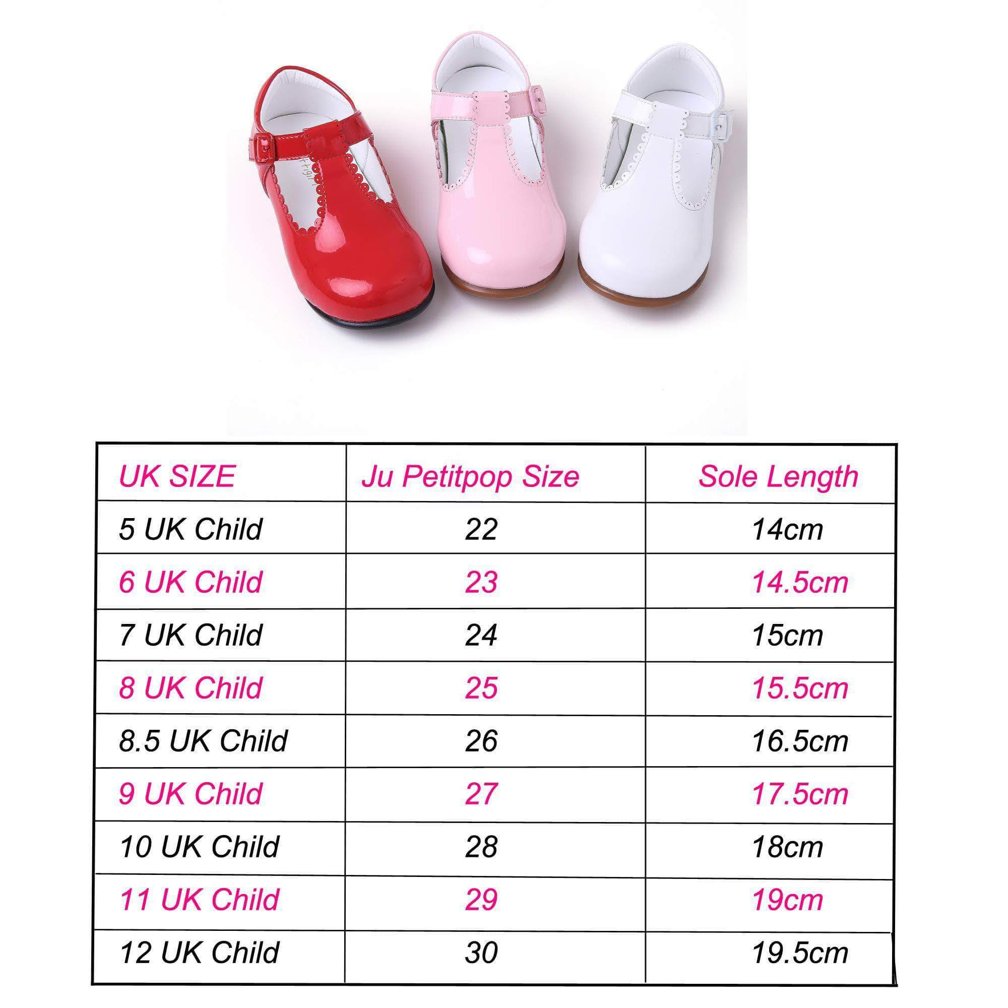 Amazon Ju petitpop Lajinirr Girls Mary Janes Zapatos de Microfibra , 27 EU , Rojo