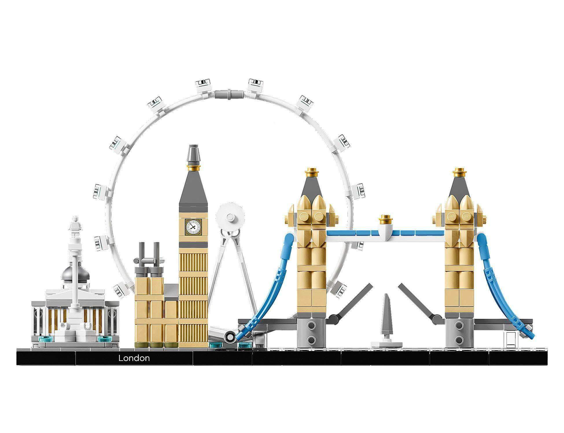Amazon LEGO Architecture - Londres, Set de Construcción del Skyline con Big Ben, London Eye, el Puente de la Torre, Regalo Coleccionable con Detalles (21034)