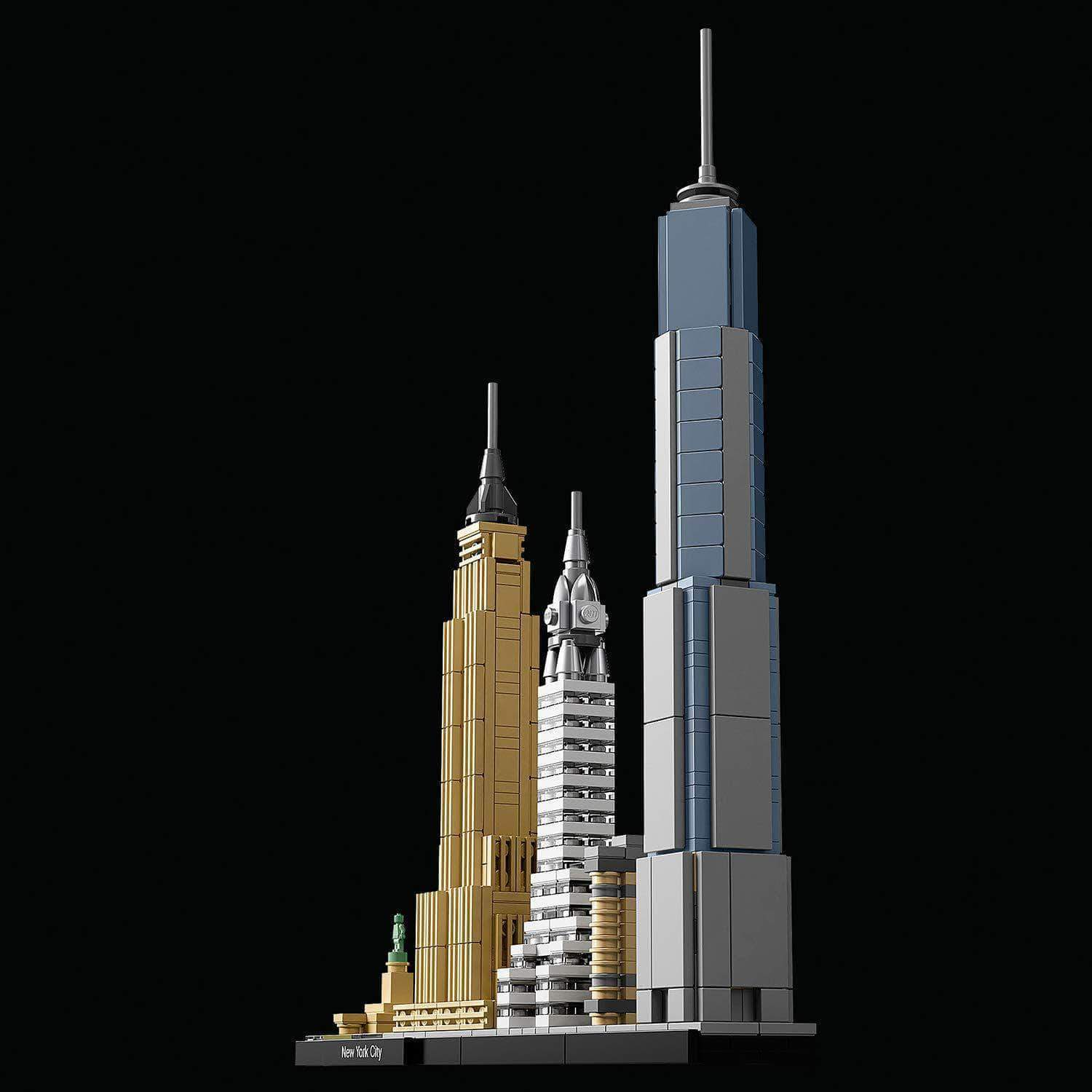 Amazon LEGO Architecture - New York, Set de Construcción de Nueva York con el Empire State y la Estatua de la Libertad, Regalo Coleccionable (21028)