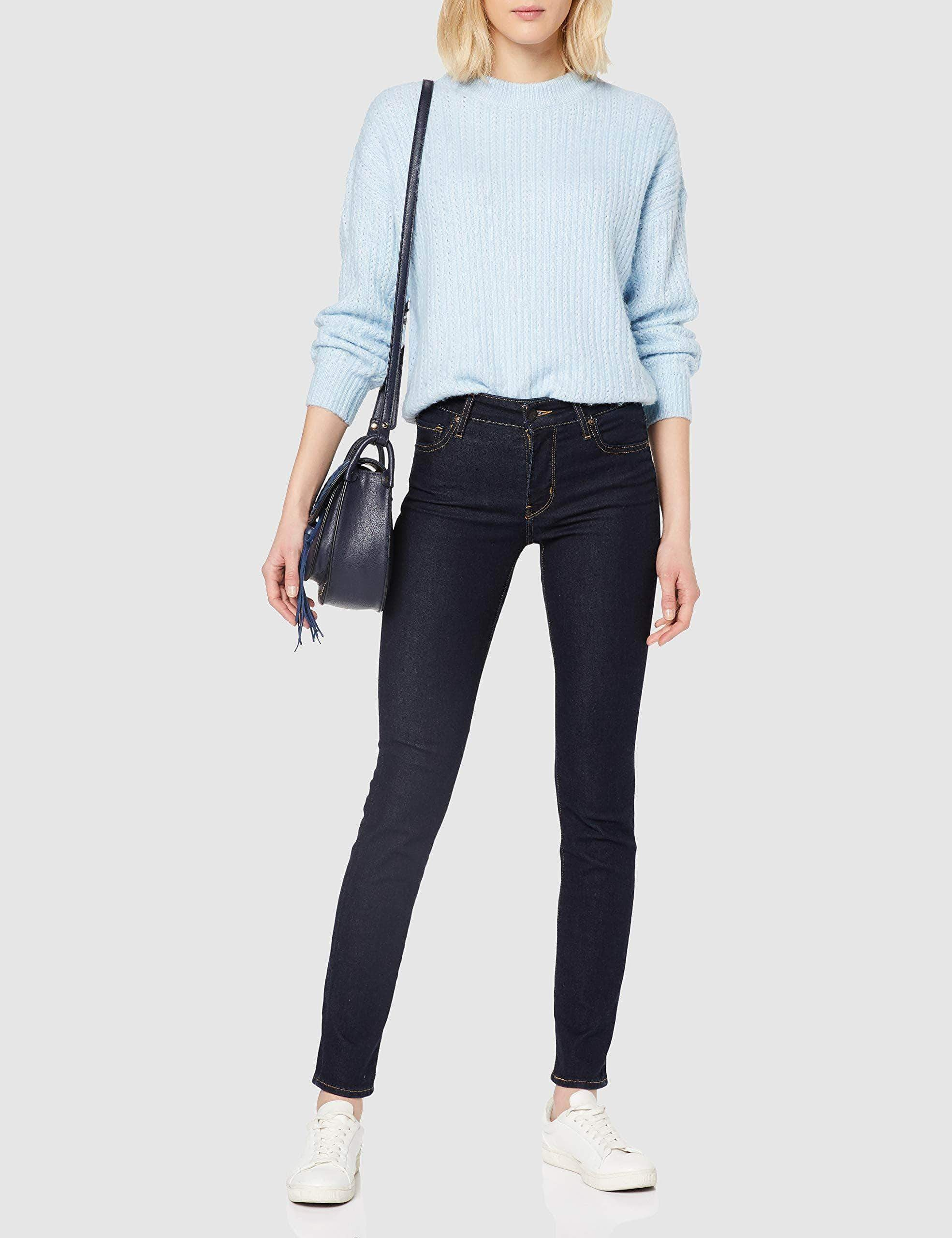 Amazon Levi's 712 Vaqueros Slim, Azul (Two The Nine 0147), 27W / 30L para Mujer