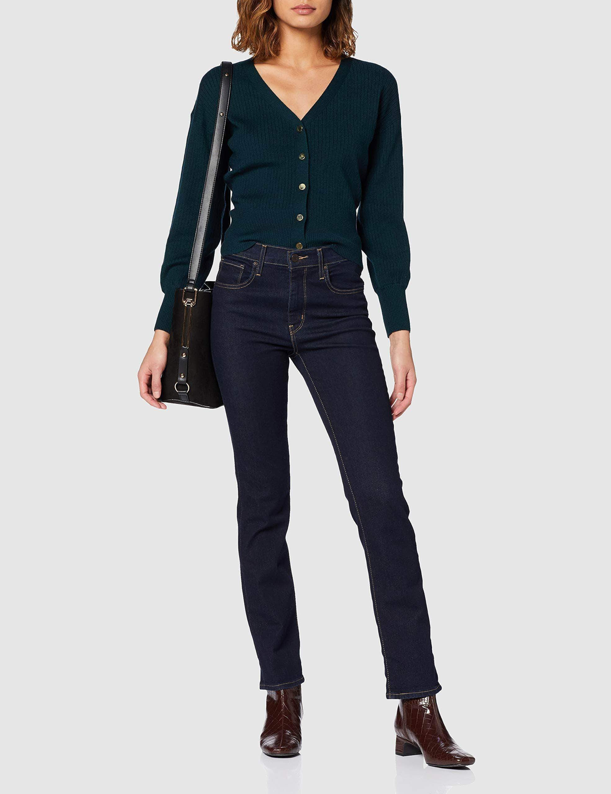 Amazon Levi's 724 High Rise Straight Vaqueros, Azul (Two The Nine 0015), W27/L32 (Talla del Fabricante: 27 32) para Mujer
