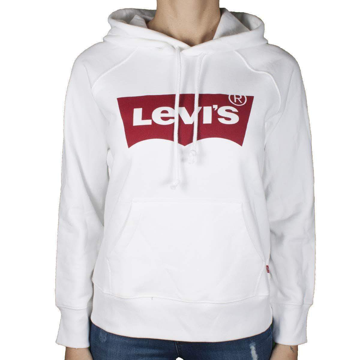 Amazon Levi's Graphic Sport Capucha, Blanco (Housemark Hoodie White 0010), S para Mujer
