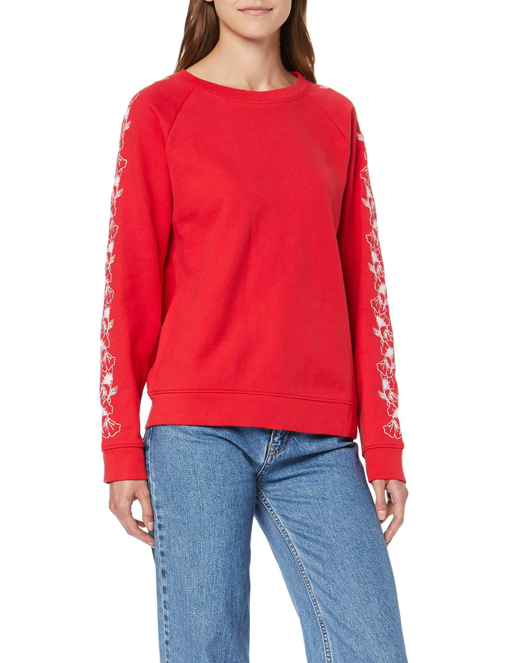 Amazon Levi's Relaxed Graphic Crew Sudadera, Rojo (Brilliant Red 0052), Large para Mujer