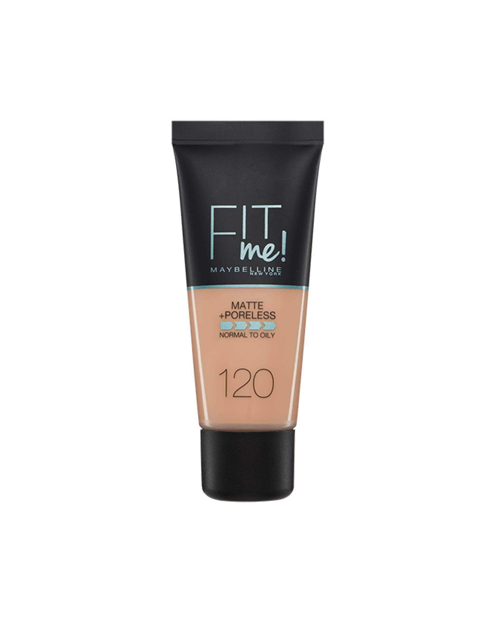 AmazonMaybelline New York Base de Maquillaje Fit Me (Mate y Sin poros), Tono 120 Classic Ivory - 30 ml - mamyka- moda infantil