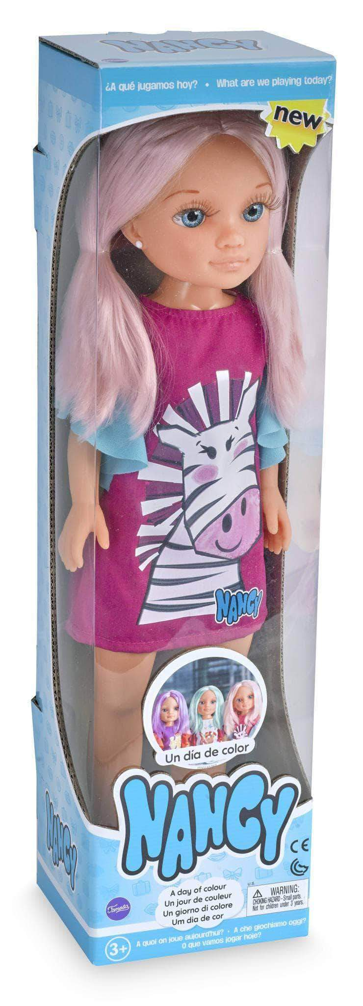 Amazon Nancy - Un Día de Color, muñeca con el pelo rosa (Famosa 700015030)