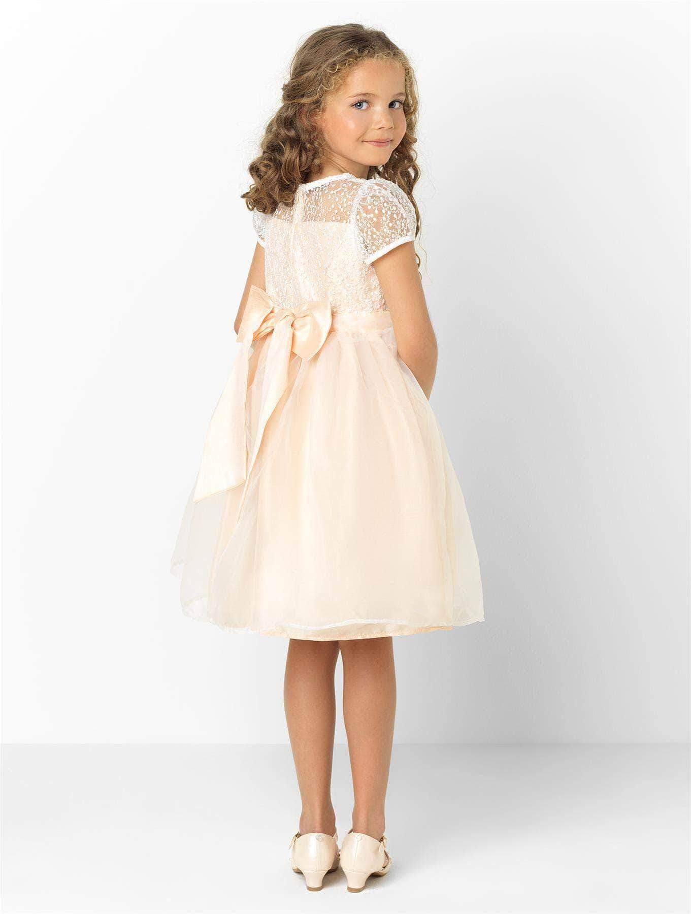 Amazon Paisley of London - Vestido - para niña Beige champán 4-5 Años