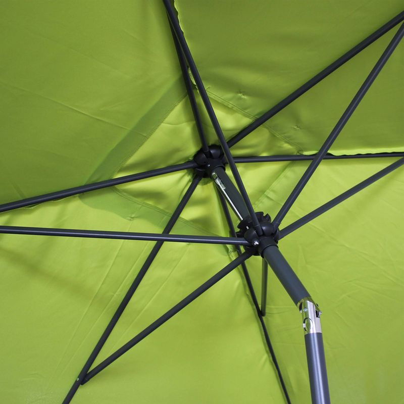 Parasol, sombrilla central, rectangular, verde, 2x3m | Touquet