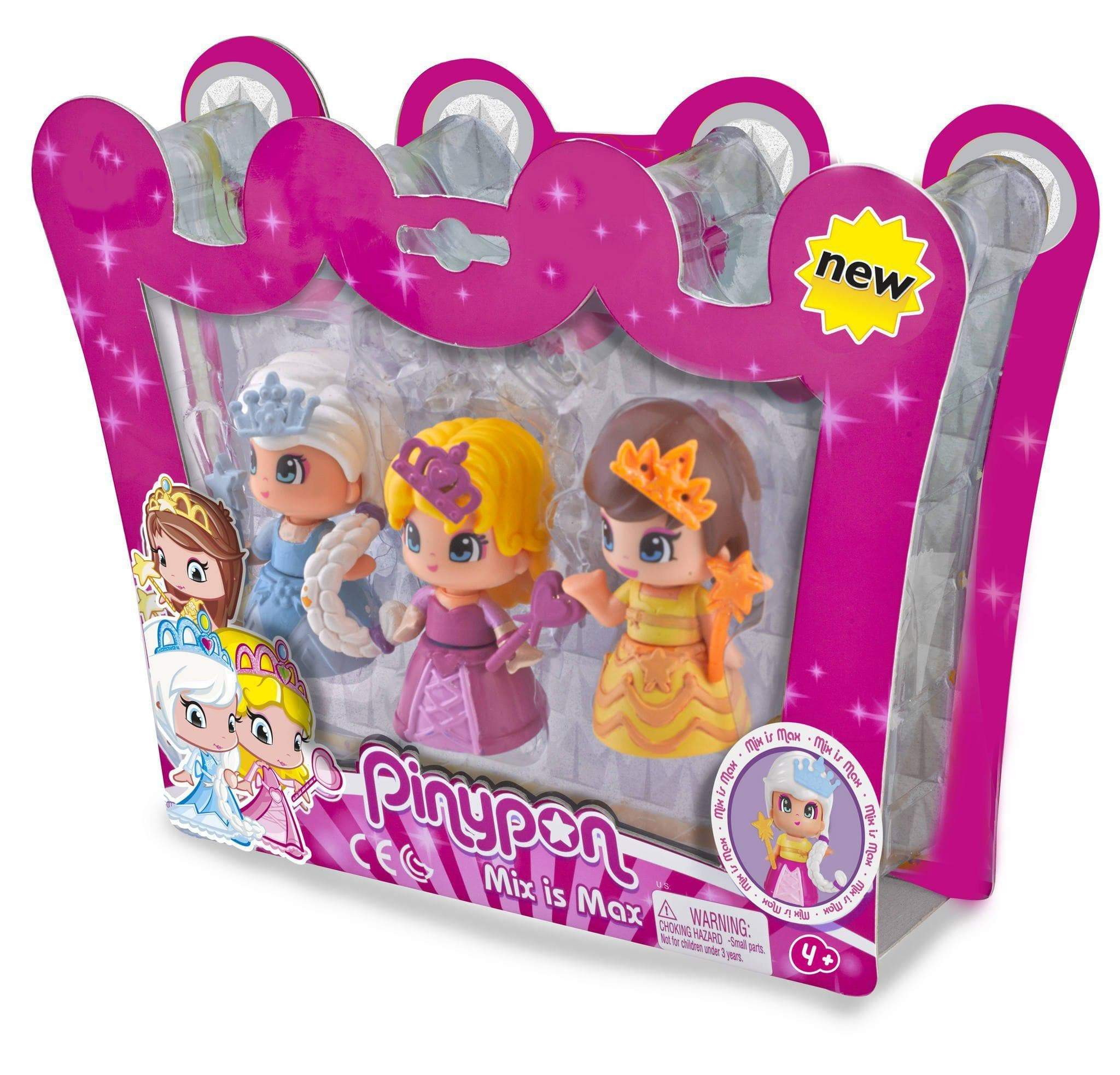 Amazon Pinypon - Pack de 3 princesas (Famosa 700014094)