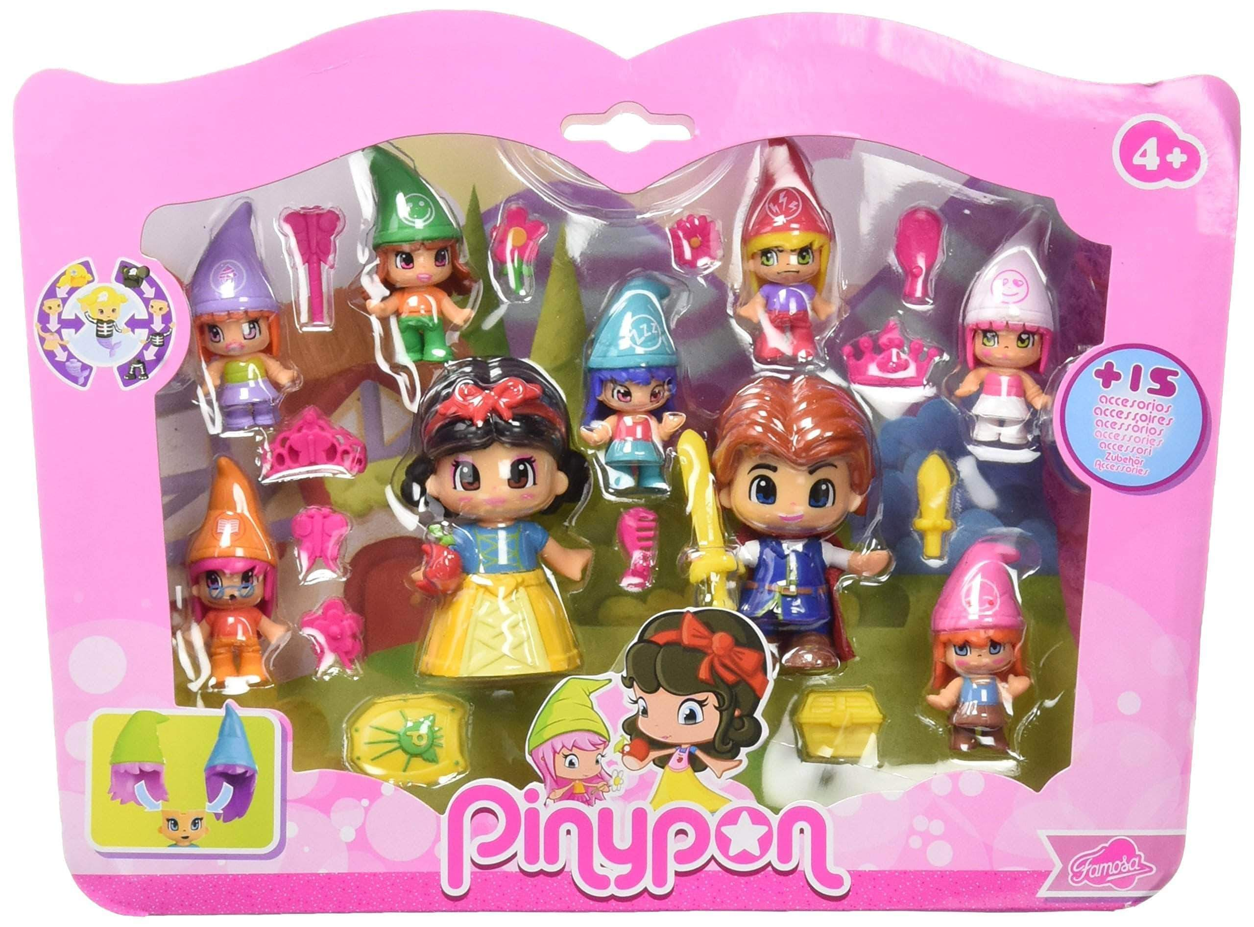 Amazon Pinypon Pack de figuras Blancanieves y siete enanitos (Famosa 700012750)