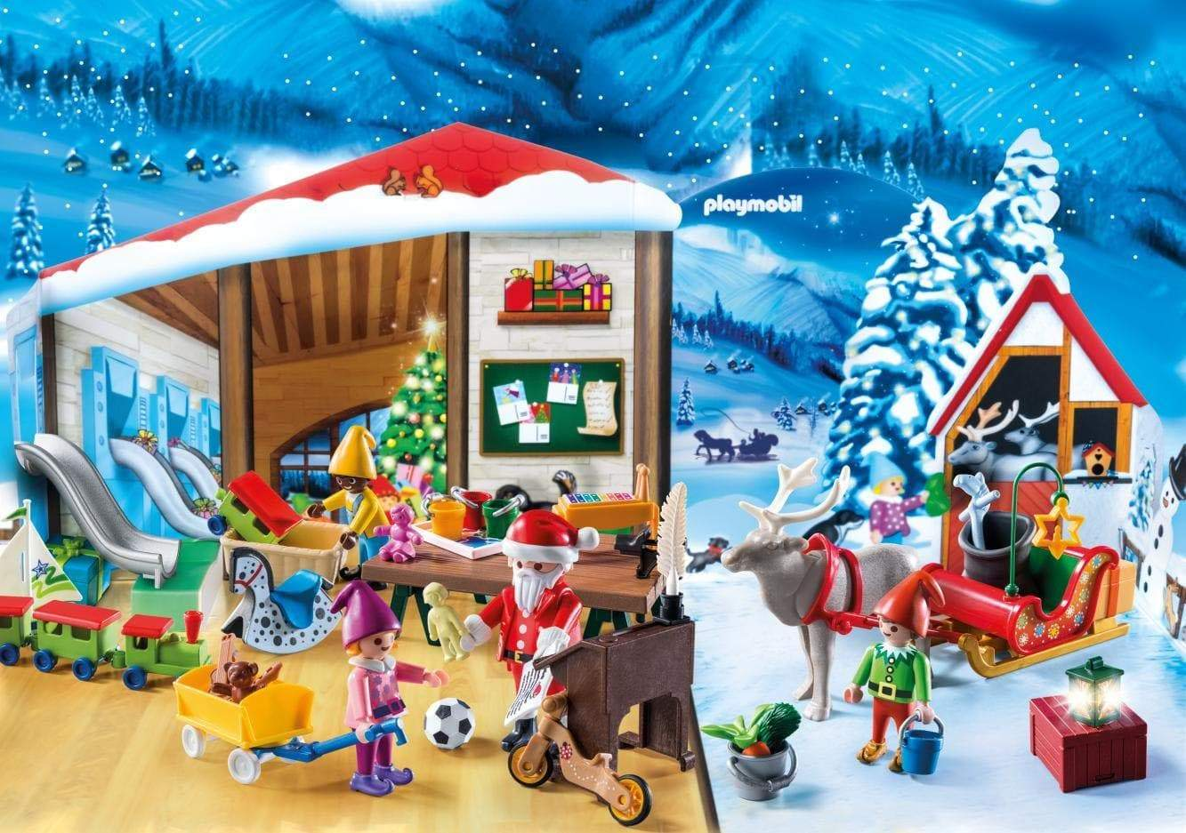 Amazon PLAYMOBIL Calendario de Adviento-9264 Taller de Navidad, Multicolor (9264)