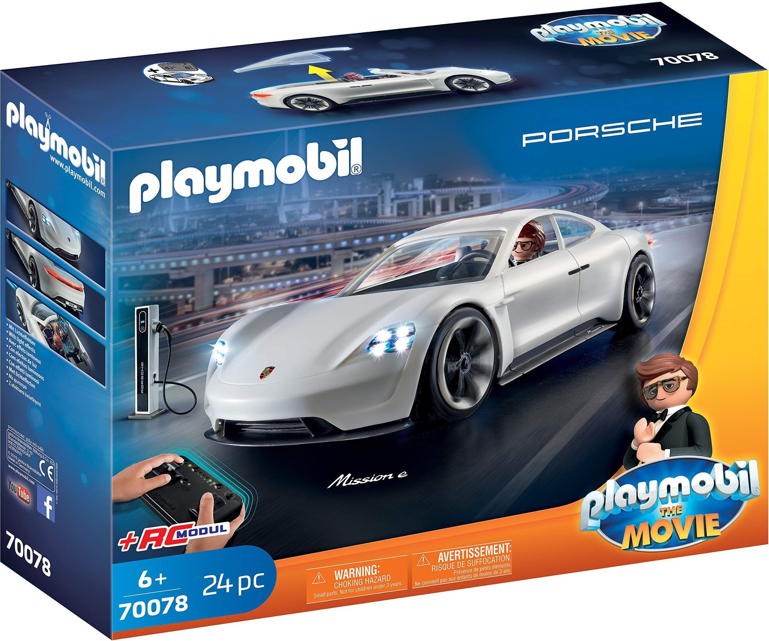 Amazon Playmobil - THE MOVIE Porsche Mission E y Rex Dasher 70078