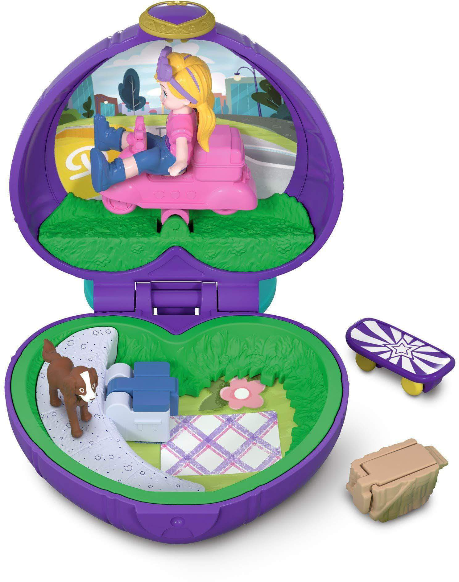 Amazon Polly Pocket Mini cofre vamos de picnic, muñeca con accesorios (Mattel FRY30)
