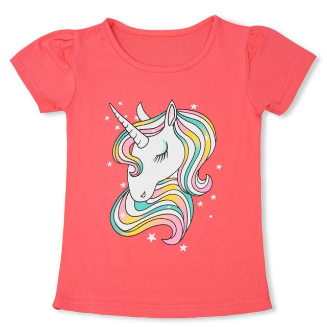 Camiseta de algodón para niña con dibujo de unicornio | mamyka collection as photo 5 / 3T - mamyka- moda infantil