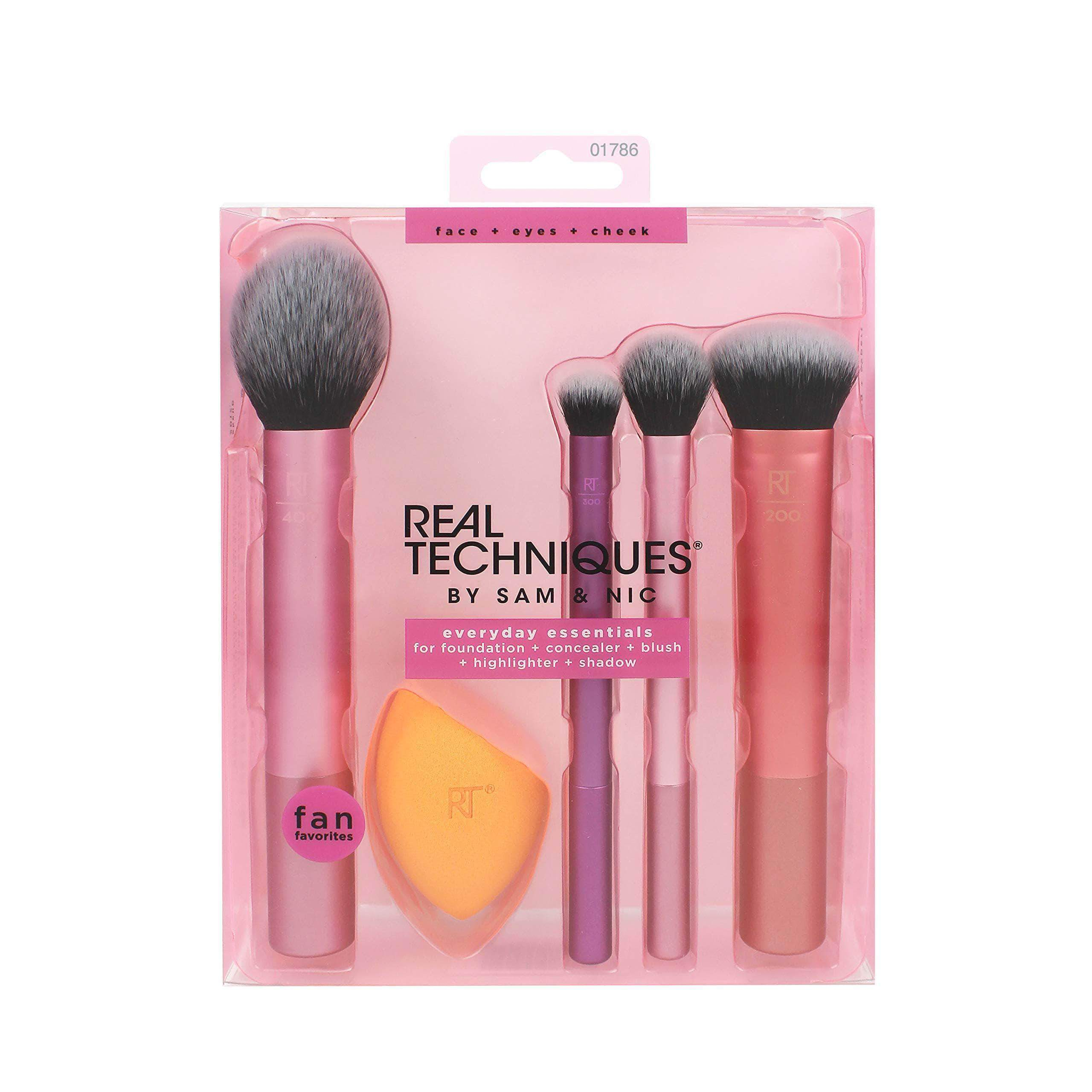 AmazonReal Techniques Everyday essentials - kit completo de brochas 200 g - mamyka- moda infantil
