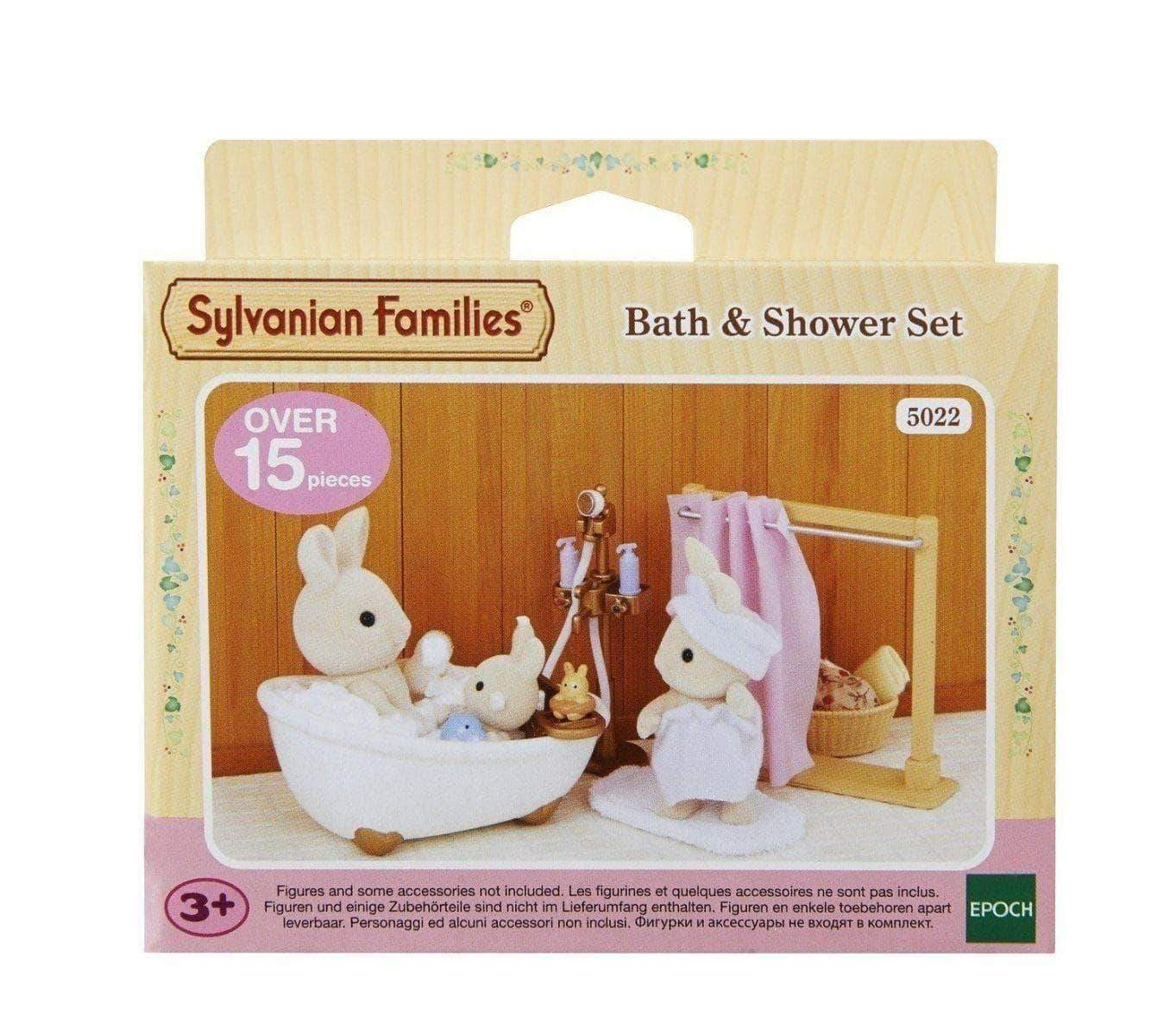 Amazon Sylvanian Families- Bath & Shower Set Mini muñecas y Accesorios, Multicolor (Epoch para Imaginar 5022 )