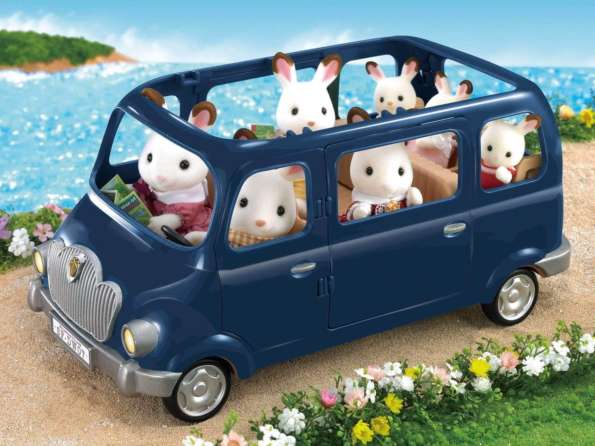 Amazon Sylvanian Families- Family Seven Seater Mini Muñecas Y Accesorios, Multicolor (Epoch para Imaginar 5274)