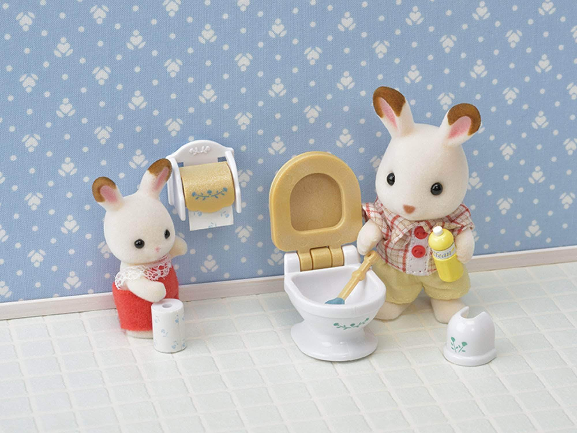 Amazon SYLVANIAN FAMILIES- Set Baño Country, Multicolor (Epoch 5286)