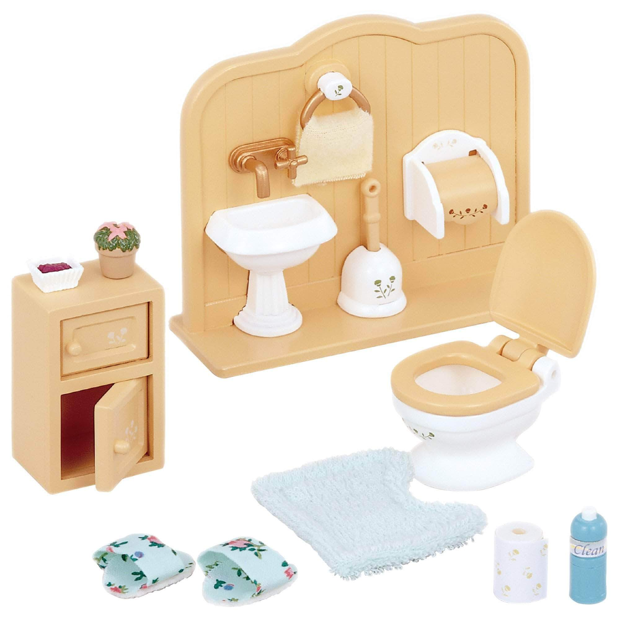 Amazon Sylvanian Families- Toilet Set Mini muñecas y Accesorios, Multicolor (Epoch para Imaginar 3563)