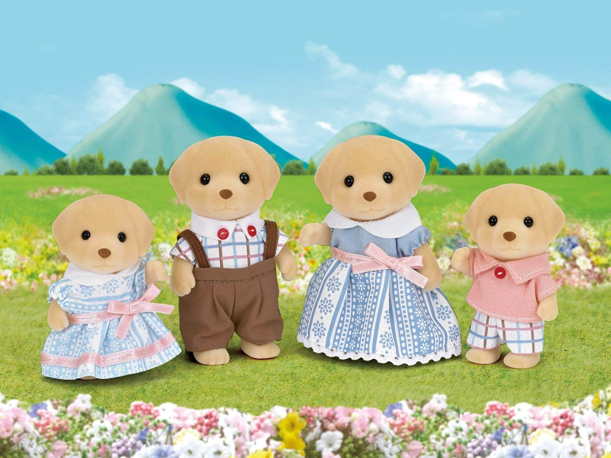 Amazon SYLVANIAN FAMILIES- Yellow Labrador Family Mini Muñecas y Accesorios, Multicolor (Epoch para Imaginar 5182)