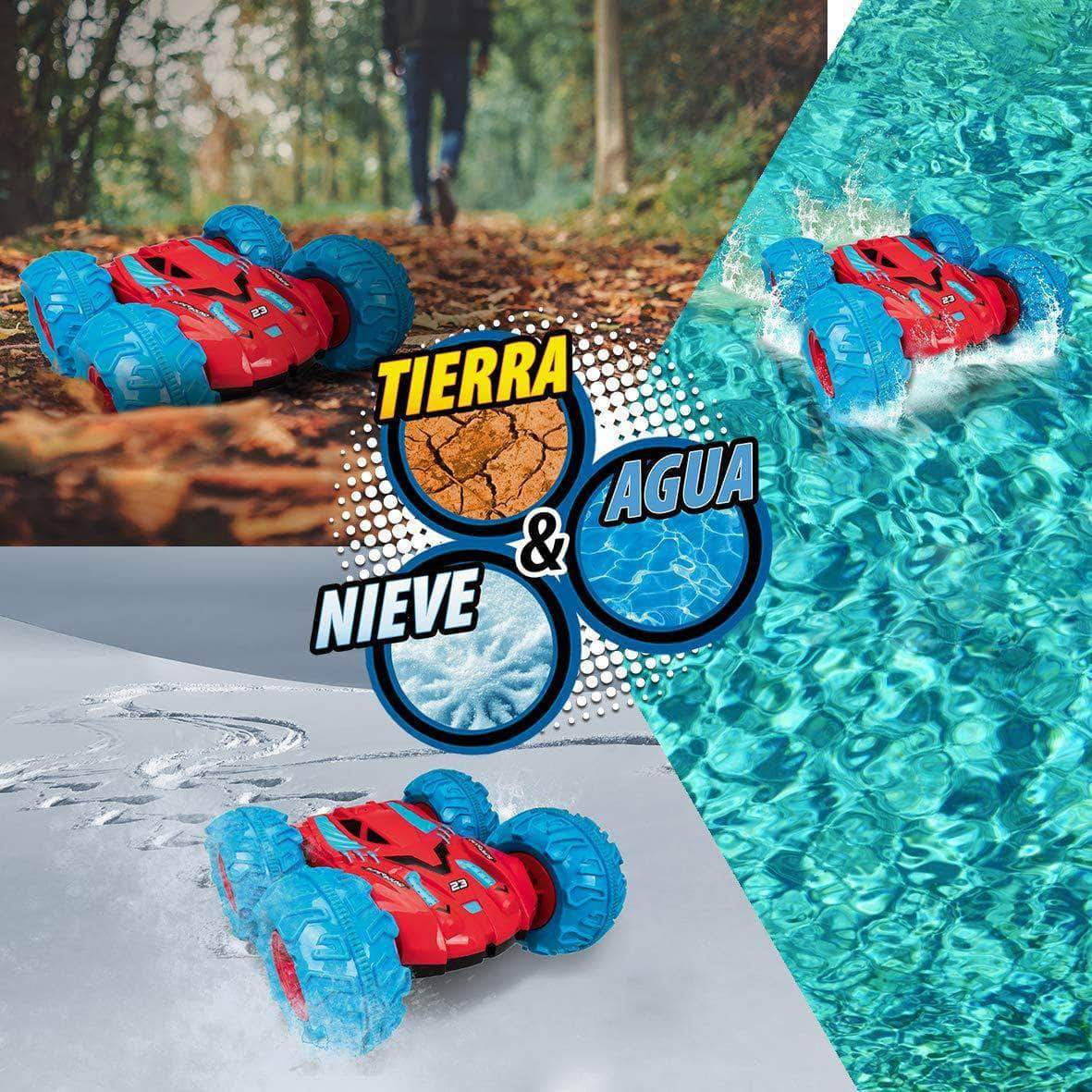Amazon Xtrem Raiders Superbound - Anfibio teledirigido para Niños, Azul/Rojo