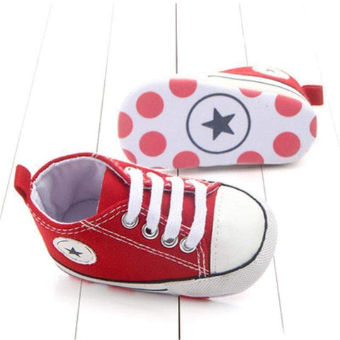 Image of mamyka- moda infantilZapatillas bebé all star en ROJAS, con suela antideslizante | mamyka collection - mamyka- moda infantil