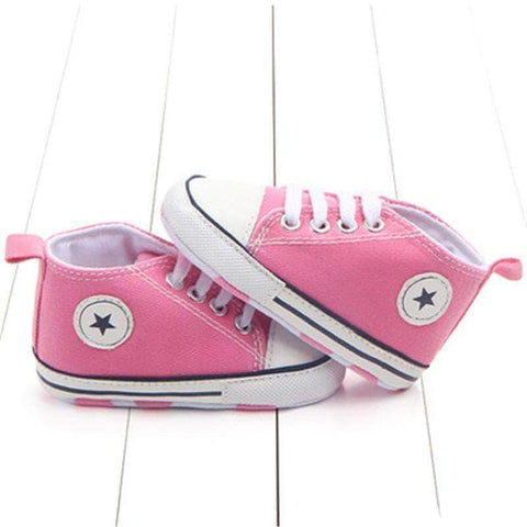 Image of mamyka- moda infantilZapatillas bebé all star en ROSA , con suela antideslizante | mamyka collection - mamyka- moda infantil
