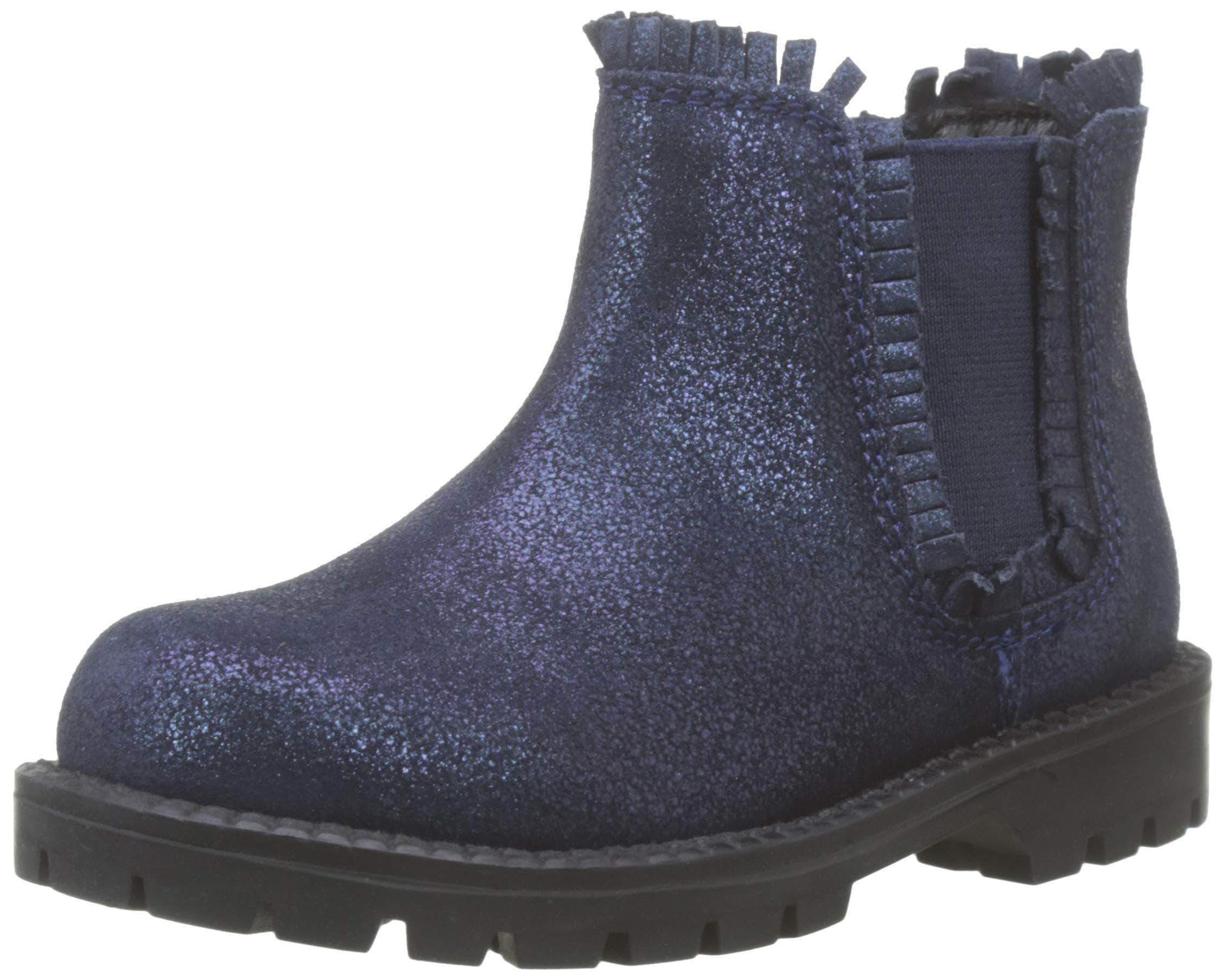 Amazon Zippy Botas Chelsea ZY, Slouch para Niñas, Azul (Dress Blue 19/4024 TC 185), 25 EU