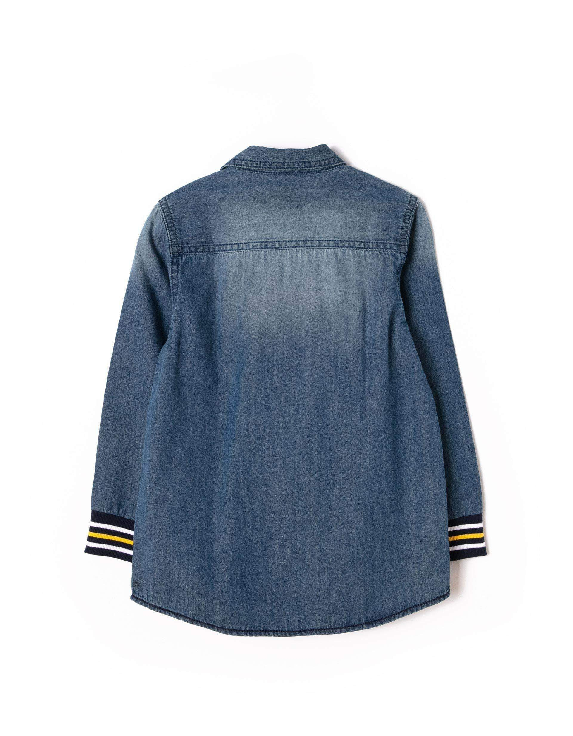 Amazon ZIPPY Camisa Vaquera Light, Azul (Medium Blue Denim 2565), 10 años (Tamaño del Fabricante:9/10) para Niños