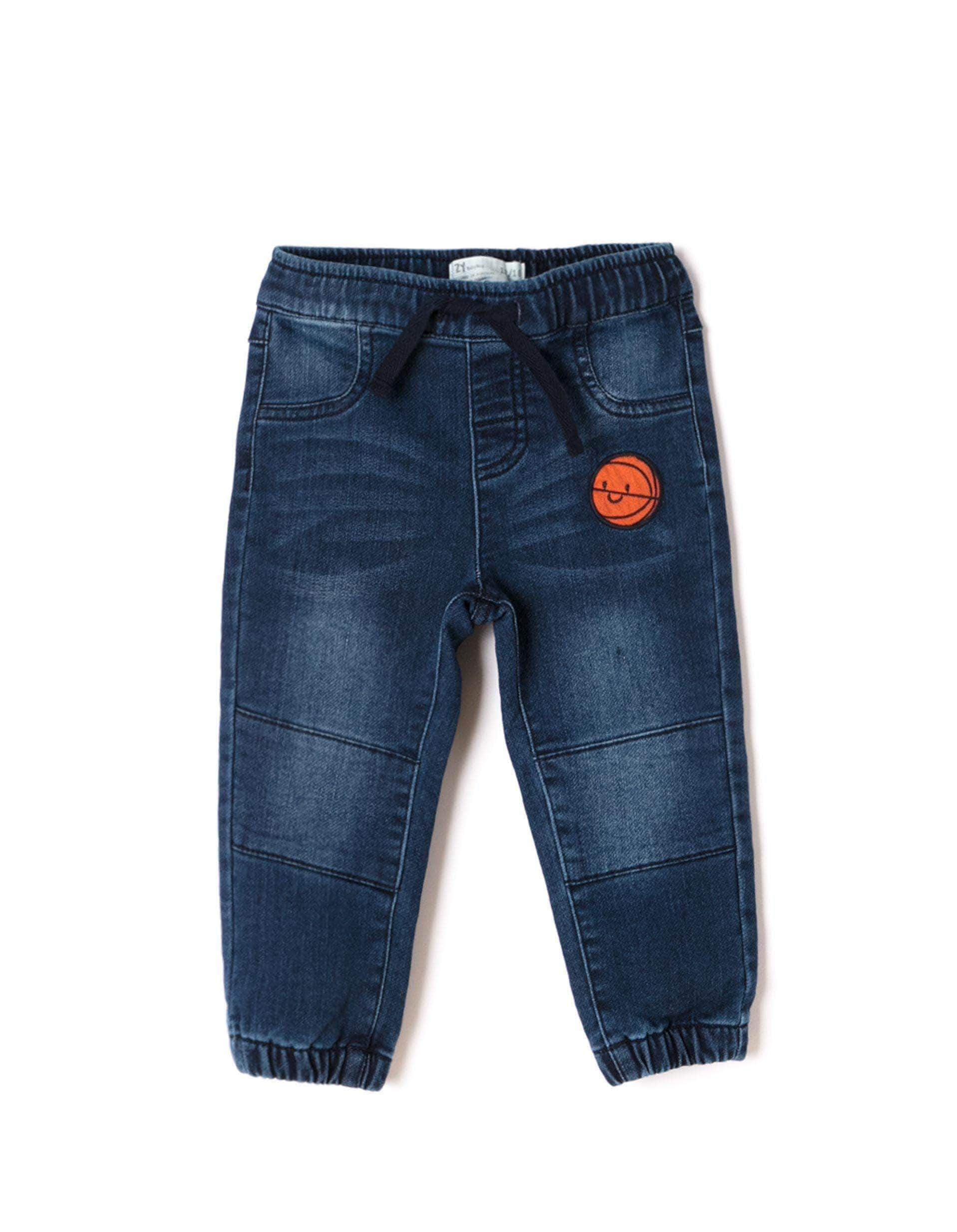 Amazon ZIPPY Pantalón Vaquero Jogger Fit Deportivos, Azul (Medium Blue Denim 2565), 80 (Tamaño del Fabricante:12/18M) para Bebés