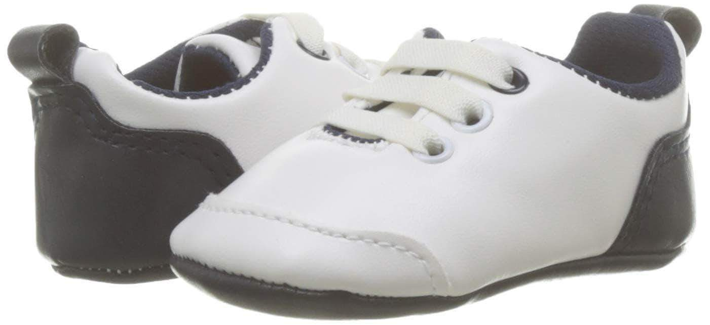 Amazon Zippy Zapatillas Bebé Huellas, Zapatos Bebés, Blanco (White 1178), 15 EU