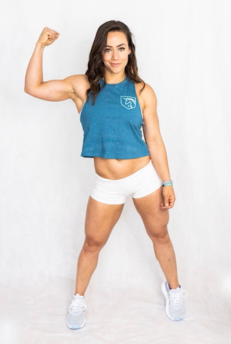 Heathered Deep Teal Racerback Crop top