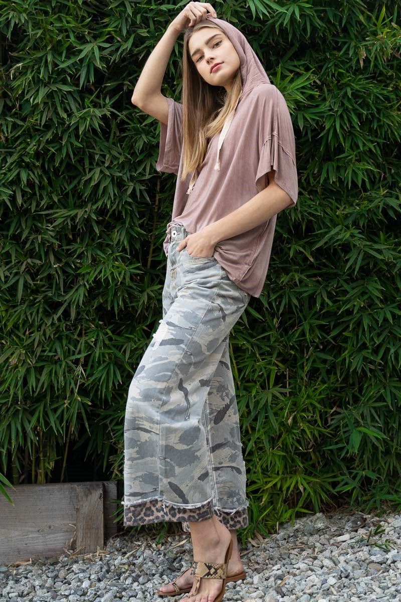 GRAY CAMOUFLAGE PANTS-Jacket-Alina and the Sea