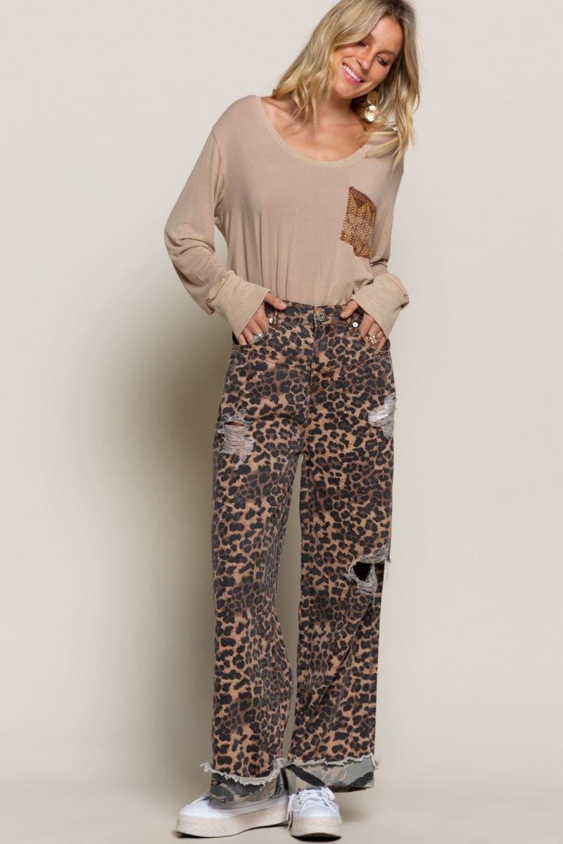 VINTAGE LEOPARD PANTS-Jacket-Alina and the Sea