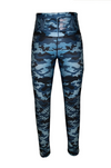 Blue Camo Jeggings-Bottoms-Alina and the Sea