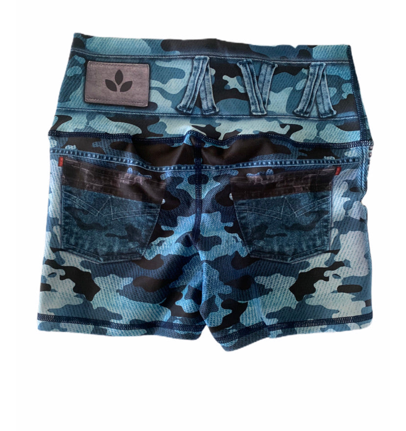 Blue Camo Shorts-Alina and the Sea