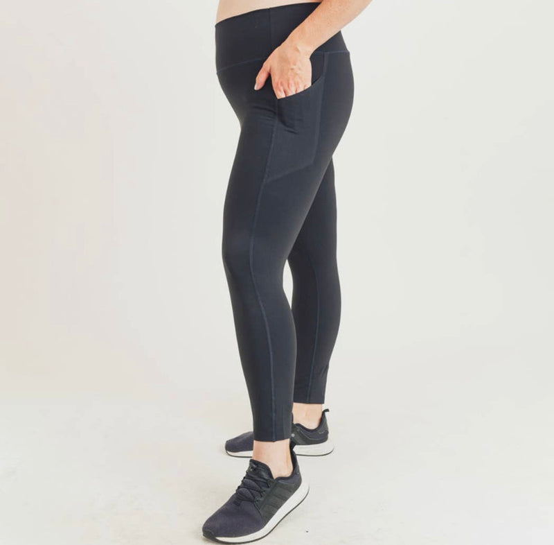 Laser-Cut and Bonded Essential Foldover Highwaist Leggings-Alina and the Sea