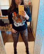 Leopard Jeans Jeggings-Alina and the Sea