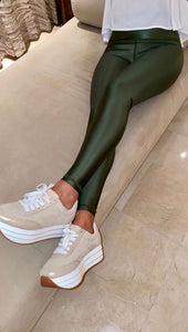 Dark Green Lux Glossy-Bottoms-Alina and the Sea