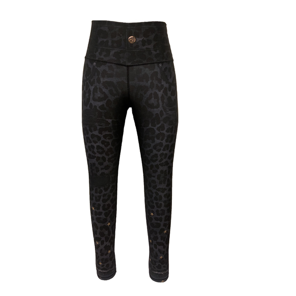 Stars Leopard Jeggings-Bottoms-Alina and the Sea