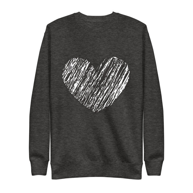 Heart Eco- Friendly Unisex Fleece Pullover-Alina and the Sea