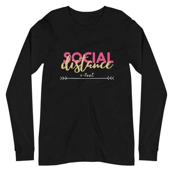 Social Distance Long Sleeve Tee-Alina and the Sea