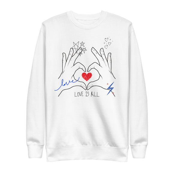 Love is All Eco-Friendly Unisex Fleece Pullover-Alina and the Sea