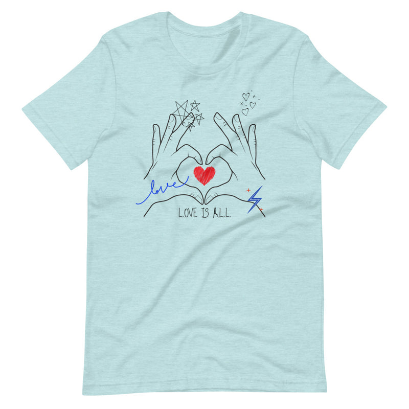Love is All Short-Sleeve Eco-Friendly T-Shirt-Alina and the Sea