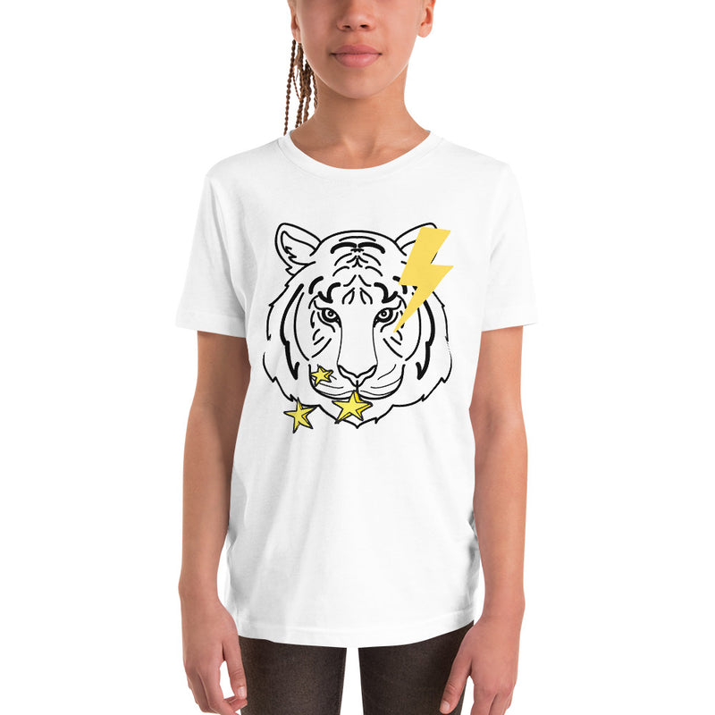 Stars Tiger Girls Short Sleeve T-Shirt-Alina and the Sea