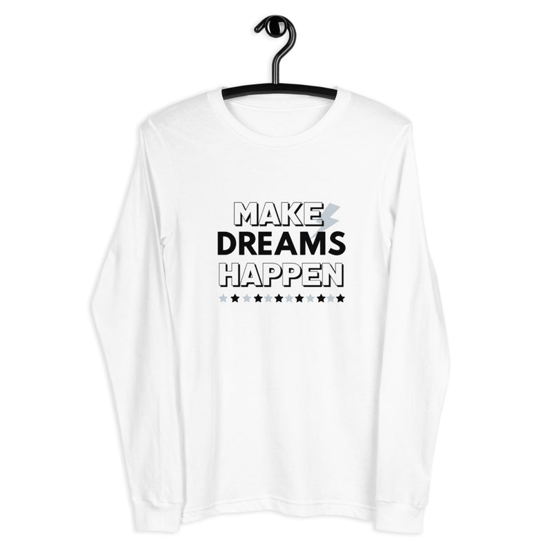 Dreams Happen Eco-Friendly Long Sleeve Tee-Alina and the Sea
