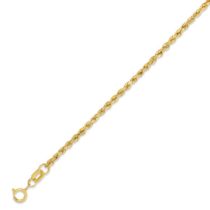 1.8mm Yellow Diamond Cut Hollow Rope