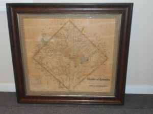Framed Map of Washington, D.C (Arnold)