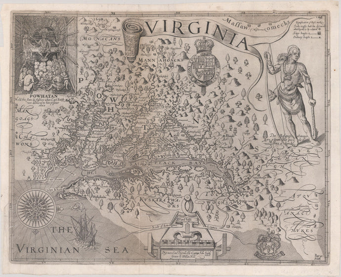 1612 John Smith Map of Virginia
